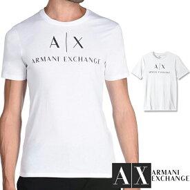 ARMANI EXCHANGE アルマーニ エクスチェンジ メンズ クルーネック 半袖 Tシャツ ホワイト XL おしゃれ ブランド 大きいサイズ 【あす楽】 [8nztcjz8h4z]