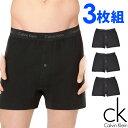 Calvin Klein カルバンクライン メンズ コットン トランクス 3枚セット ブラック CK ボクサーパンツ S M L XL おしゃれ ブランド 大きいサイズ 【あす楽】 [nu3040001]