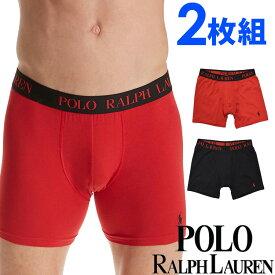 POLO RALPH LAUREN ポロ ラルフローレン メンズ ボクサーパンツ 2枚セット ブラック レッド ロゴ polo トランクス S M L XL おしゃれ ブランド 大きいサイズ【あす楽】[lpb2p2fjd]