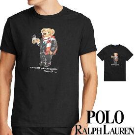 POLO RALPH LAUREN ポロ ラルフローレン メンズ ポロベアー プリント 半袖 Tシャツ ブラック S M L XL おしゃれ ブランド 大きいサイズ 【送料無料】【あす楽】 [710766901]