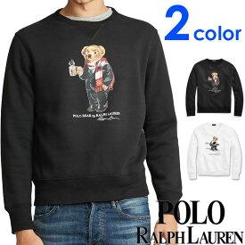 POLO RALPH LAUREN ポロ ラルフローレン メンズ ポロベアー プリント スウェット ブラック ホワイト トレーナー S M L XL おしゃれ ブランド 大きいサイズ 【あす楽】 [710766902]