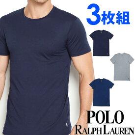POLO RALPH LAUREN ポロ ラルフローレン メンズ クルーネック 半袖 Tシャツ 3枚セット ネイビー オーシャンブルー ライトグレー S M L XL おしゃれ ブランド 大きいサイズ [あす楽][rccnp3u2o /LCCN]