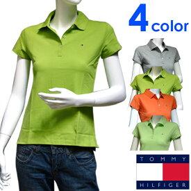 TOMMY HILFIGER トミーヒルフィガー レディース ポロシャツ フィット 4色展開[グレー 灰色 ライトグリーン 黄緑 オレンジ][XS/S/M/L/XL][ポロ 半袖 ショートスリーブ][[ヨーロッパ仕様][1M50236010]大きいサイズ ブランド[送料無料]