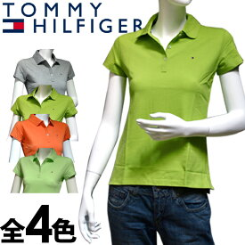 TOMMY HILFIGER トミーヒルフィガー レディース ポロシャツ フィット 4色展開[グレー 灰色 ライトグリーン 黄緑 オレンジ][XS/S/M/L/XL][ポロ 半袖 ショートスリーブ][ヨーロッパ仕様][1M50236010]大きいサイズ ブランド[5,500円以上で送料無料]