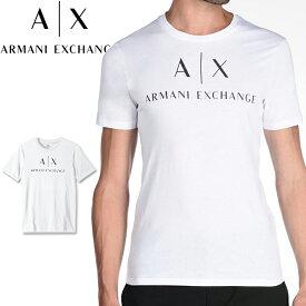 ARMANI EXCHANGE アルマーニ エクスチェンジ メンズ クルーネック 半袖 Tシャツ ホワイト XL おしゃれ ブランド 大きいサイズ [5,500円以上で送料無料] 【あす楽】 [8nztcjz8h4z]