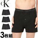 Calvin Klein カルバンクライン メンズ コットン トランクス 3枚セット ブラック CK ボクサーパンツ S M L XL おしゃ…