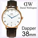 ダニエルウェリントン 腕時計 ダッパー Dapper 38mm [Daniel Wellington]メンズ 腕時計 シルバー/クロコ型押しダーク…