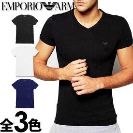 EMPORIO ARMANI エンポリオアルマーニ メンズ tシャツ Vネック ストレッチ コットン 半袖Tシャツ 3色展開[ブラック/ホワイト/ネイビー][黒 白 紺][下着 肌着 アンダーウエア エンポリオ アルマーニTシャツ ルームウェア][5,500円以上で送料無料][110810cc718]