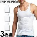 EMPORIO ARMANI エンポリオアルマーニ メンズ タンクトップ 3枚パック ホワイト[白 下着 肌着 アンダーウエア アルマ…