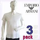 EMPORIO ARMANI エンポリオアルマーニ メンズ tシャツ 3枚パック Vネック Tシャツ ピュアコットン 白[エンポリオ アル…