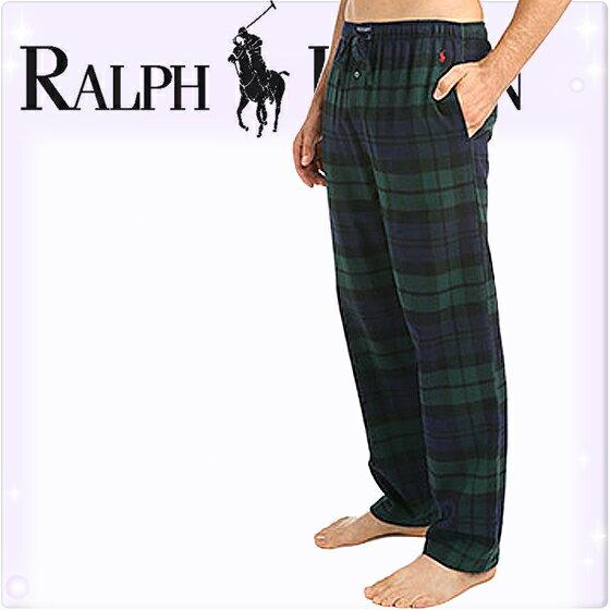 POLO RALPH LAUREN ポロ ラルフローレン メンズ タータンチェック コットン フランネル リラックスパンツ[S/M/L/XL][ポロ・ラルフローレン ラルフローレンパンツ パジャマ 部屋着 ルームウェア ルームウエア][5,400円以上で送料無料][P657]大きいサイズ ブランド