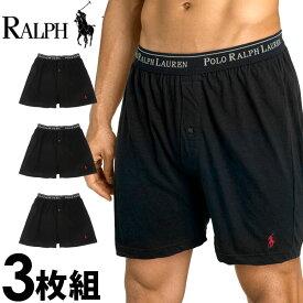 POLO RALPH LAUREN ポロ ラルフローレン ボクサーパンツ メンズ クラシックフィット スリーニット ブラック 3枚セット[ブラック/黒][S/M/L/XL][ポロ・ラルフローレン ラルフローレン インナー ブリーフ][5,500円以上で送料無料]大きいサイズ ブランド[RCKBP3/LCKB/ry73b]