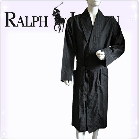 POLO RALPH LAUREN ポロ ラルフローレン コットン バスローブ メンズ チェック[黒 チェック柄 ギンガムチェック][S/M/L/XL][ポロ・ラルフローレン ラルフローレン ナイトガウン 部屋着 ナイトウエア リラックスウエア][送料無料][R171]大きいサイズ ブランド
