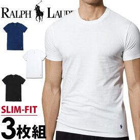 POLO RALPH LAUREN ポロ ラルフローレン メンズ スリムフィット コットン クルーネック 半袖 Tシャツ 3枚セット ネイビー ブラック ホワイト polo ロゴ S M L XL おしゃれ ブランド 大きいサイズ [5,500円以上で送料無料] 【あす楽】[RSCNP3/LSCN/p645u5o]