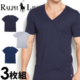 POLO RALPH LAUREN ポロ ラルフローレン メンズ Vネック 半袖 Tシャツ 3枚セット ネイビー オーシャンブルー ライトグレー S M L XL おしゃれ ブランド 大きいサイズ[5,500円以上で送料無料] [あす楽][rcvnp3u2o /LCVN]