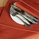 TABLE FORMULA ベルギーリネン テーブルクロス 160x260 フォックス色