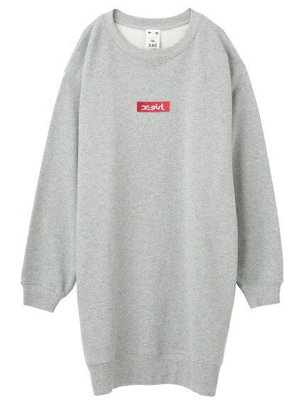 X-girl(エックスガール)BOX LOGO LOOSE SWEAT DRESS