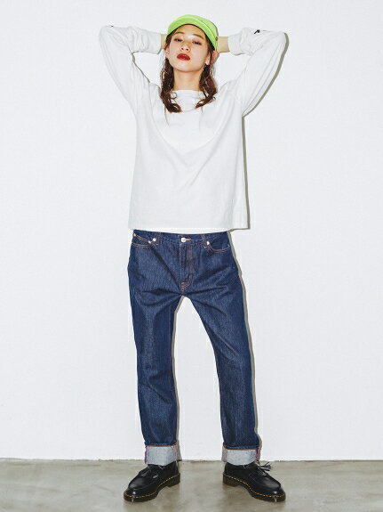 X-girl(エックスガール)OW SLIM STRAIGHT JEAN