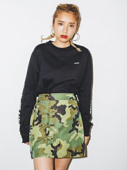 X-girl(エックスガール)CHINESE MINI SKIRT