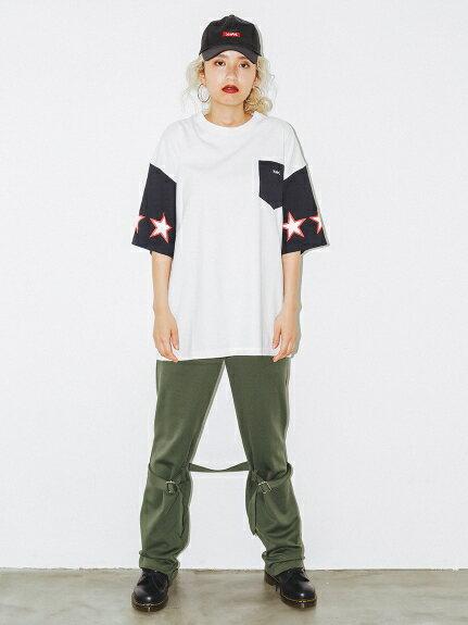 X-girl(エックスガール)JERSEY BONDAGE PANTS