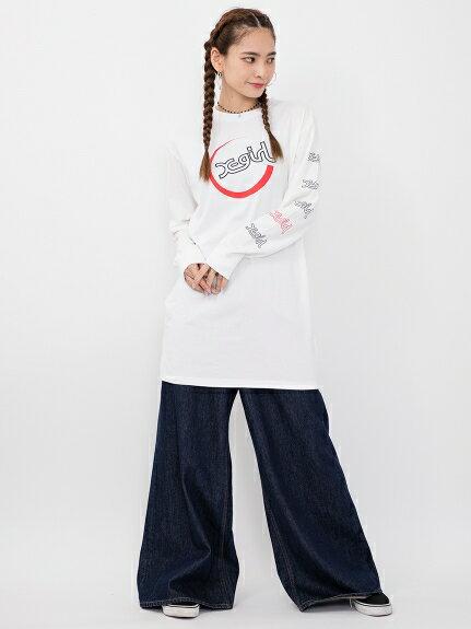X-girl(エックスガール)MILLS LOGO L/S TEE DRESS