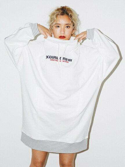 X-girl(エックスガール)STRIPED RIB SWEAT DRESS