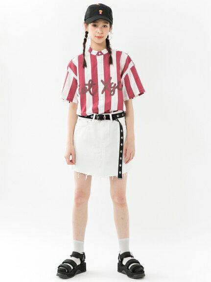 X-girl(エックスガール)CUT OFF MINI SKIRT