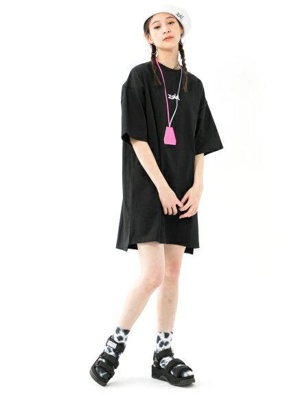 X-girl(エックスガール)DROP SHOULDER DRESS