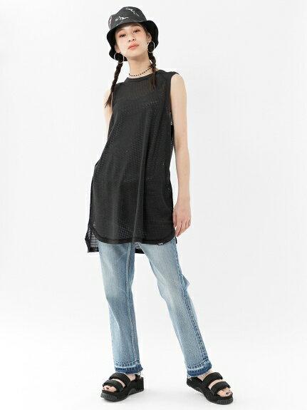 X-girl(エックスガール)COTTON MESH DRESS