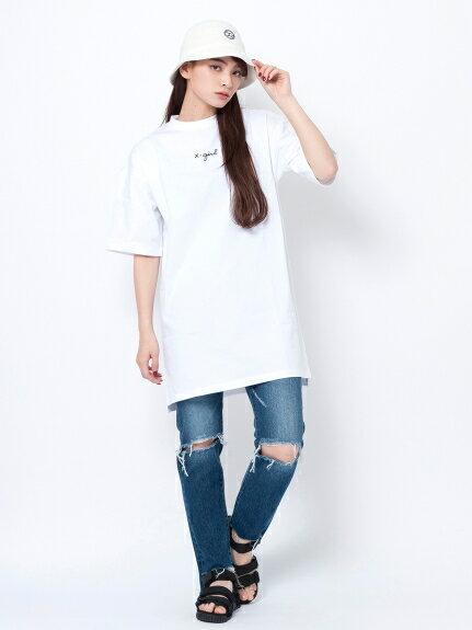 X-girl(エックスガール)CURCIVE LOGO DROP SHOULDER DRESS