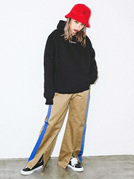X-girl(エックスガール)LINED WORK PANTS