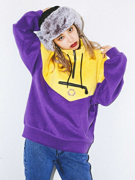 X-girl(エックスガール)HALF ZIP SWEAT TOP