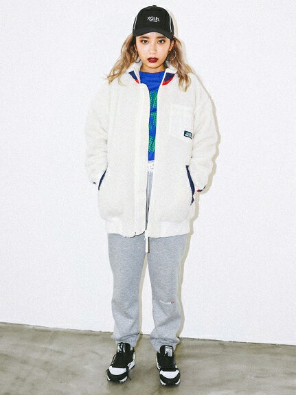 X-girl(エックスガール)LACE-UP SWEAT PANTS