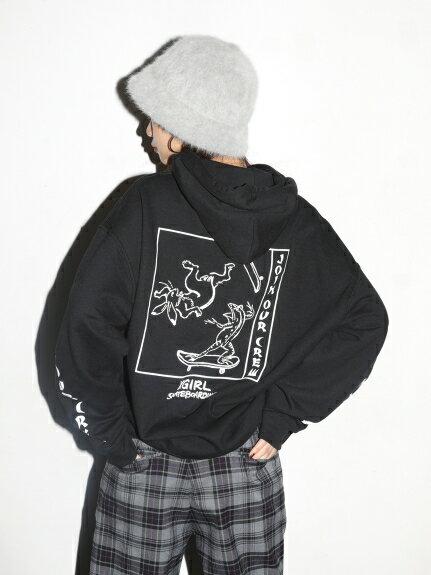 X-girl(エックスガール)CHOJU-GIGA SWAET HOODIE