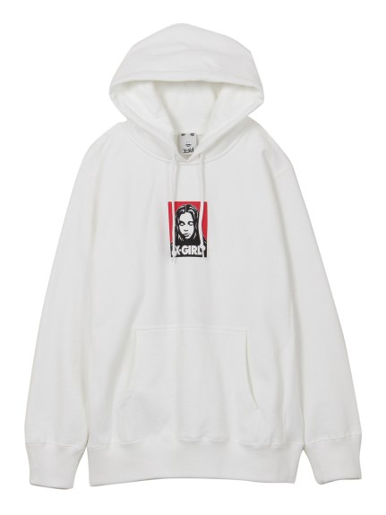 X-girl(エックスガール)FACE SWEAT HOODIE
