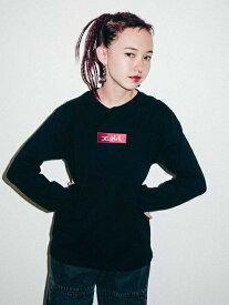 X-girl(エックスガール)EMBROIDERED BOX LOGO L/S REGULAR TEE