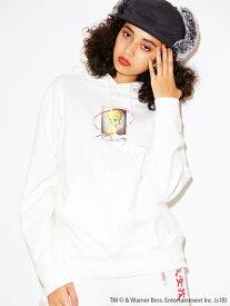 X-girl(エックスガール)【WEB限定】X-GIRL X LOONEY TUNES TWEETY SWEAT HOODIE