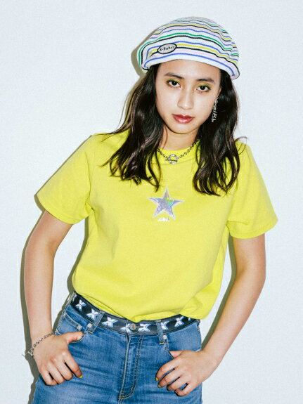 X-girl(エックスガール)TWINKLE STAR S/S REGULAR TEE