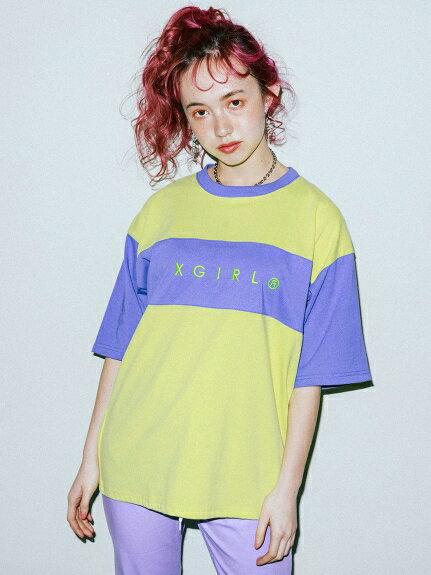 X-girl(エックスガール)BI-COLOR TEE