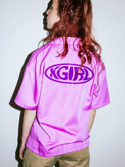 X-girl(エックスガール)WARP LOGO SHIRT