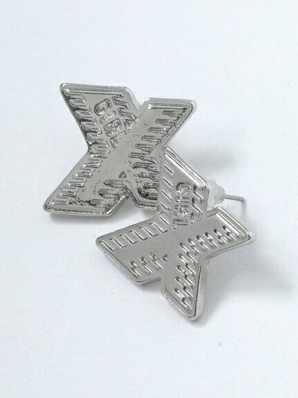 X-girl(エックスガール)X-LOGO EARRING