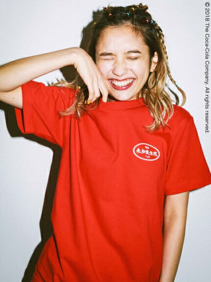 X-girl(エックスガール)COCA-COLA BY X-GIRL CHINESE LOGO S/S TEE