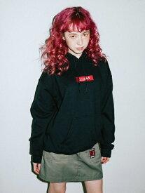 X-girl(エックスガール)BOX LOGO SWEAT HOODIE