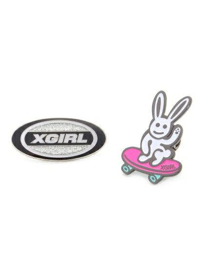 X-girl(エックスガール)2P PINS SET