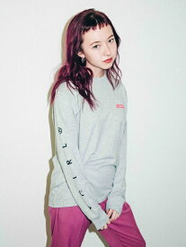 X-girl(エックスガール)BOX LOGO POCKET REGULAR L/S TEE