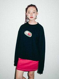 X-girl(エックスガール)#1 MEDICINE CREW SWEAT TOP