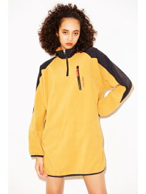 X-girl(エックスガール)HALF ZIP FLEECE DRESS