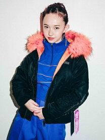 X-girl(エックスガール)X-GIRL X YURINO HOODED MA-1