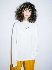 X-girl(エックスガール)CURSIVE LOGO L/S TEE