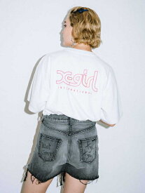 X-girl(エックスガール)【WEB限定】EMBROIDERY MILLS LOGO S/S MENS TEE